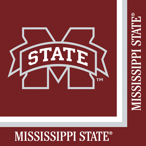 Mississippi State Paper Luncheon Napkins
