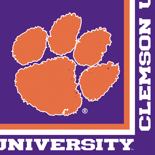 Clemson University Paper Luncheon Napkins