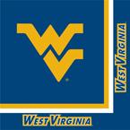 University of West Virginia Luncheon Napkins