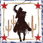 Cowboy Themed Paper Luncheon Napkins - Rodeo Boy