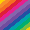 Rainbow Luncheon Napkins