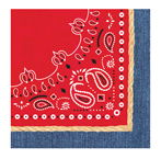 Western Themed Paper Luncheon Napkins
