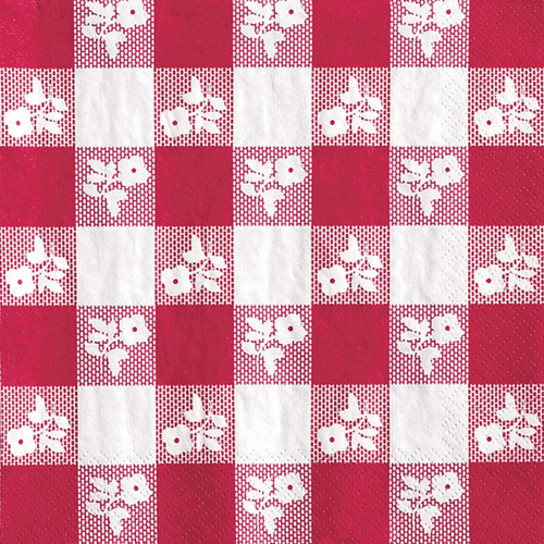 Red Gingham Paper Luncheon Napkins