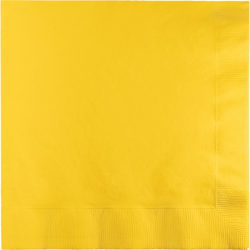School Bus Yellow Luncheon Napkins - 600 Count