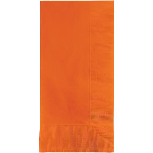 Sunkissed Orange Dinner Napkins - 600 Count