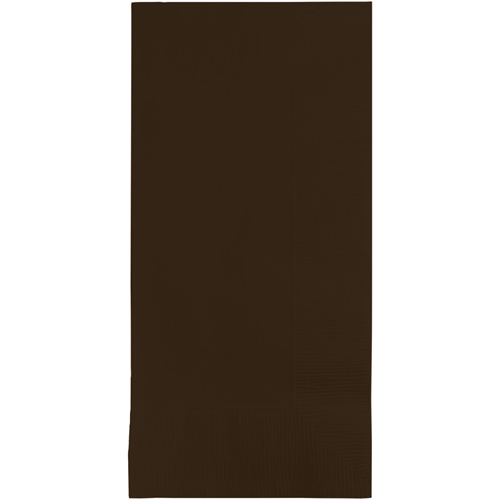 Chocolate Brown Dinner Napkins - 600 Count