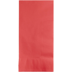 Coral 2Ply Dinner Napkins - 1/8 Fold