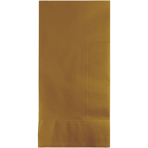 Gold Dinner Napkins - 600 Count
