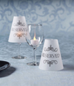 Reserved Wine Glass Shades with Tea Lights