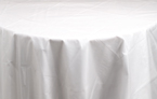 Clear Round Plastic Tablecloths - 84 Inch