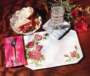 Roses Paper Placemats