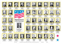 United States Presidents Paper Placemats