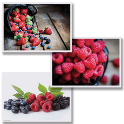 Delicious Berries Paper Placemats - Multipack