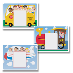 Kid's Paper Placemats with Customizable Menu