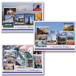 U.S. Landmarks Paper Placemats – Multipack
