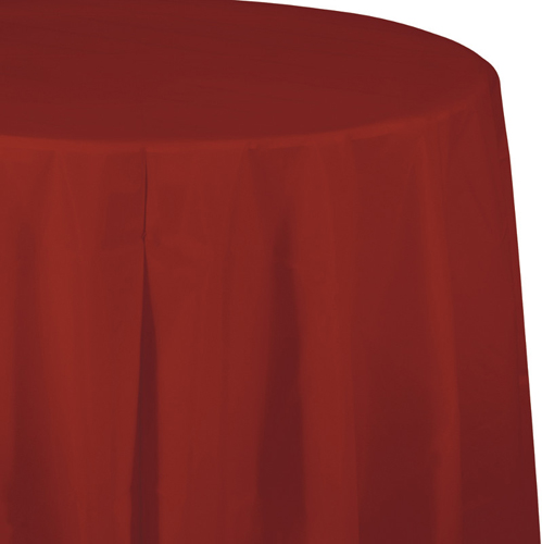 Brick Round Plastic Table Covers - 82 Inch