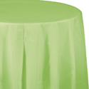 Pistachio Round Plastic Table Covers - 82 Inch
