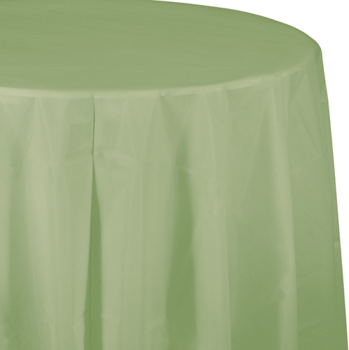 Sage Round Plastic Tablecloths - 82 Inch