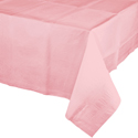 Pink Paper Banquet Table Covers - 24 Case Count