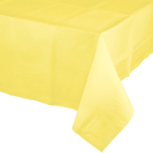 Mimosa Yellow Paper Banquet Table Covers