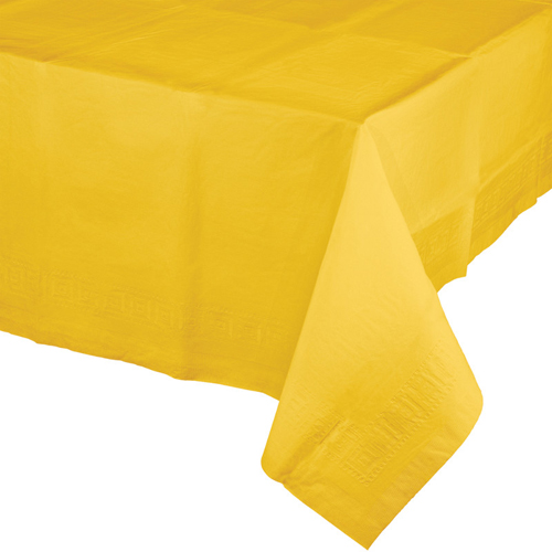 School Bus Yellow Paper Banquet Table Covers