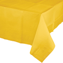 School Bus Yellow Paper Banquet Table Covers - 24 Count