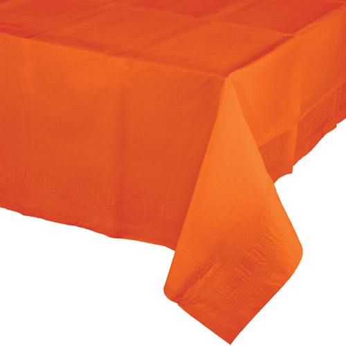 Sunkissed Orange Paper Banquet Table Covers