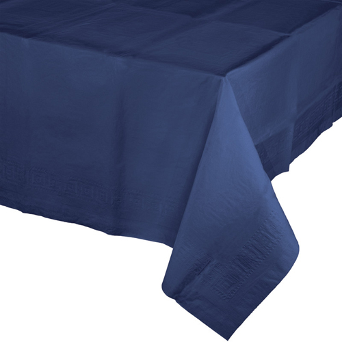 Navy Paper Banquet Table Covers - 24 Count