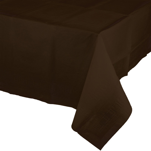 Chocolate Brown Paper Banquet Table Covers - 24 Count