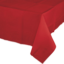 Classic Red Paper Banquet Table Covers - 24 Count