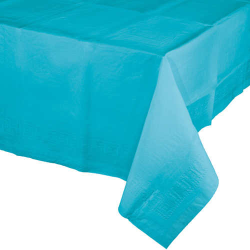 Bermuda Blue Paper Banquet Table Covers