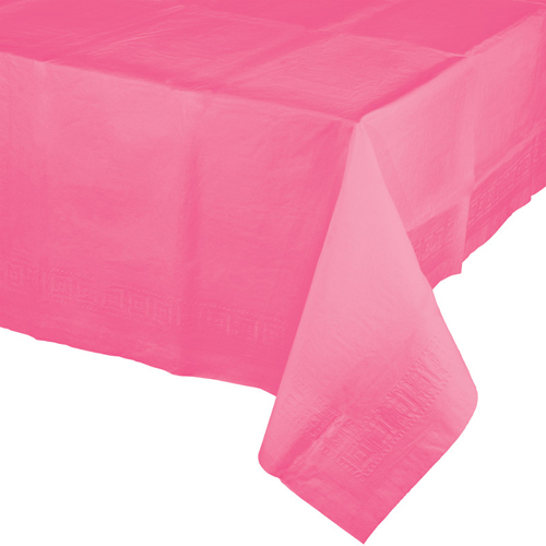 Candy Pink Paper Table Covers