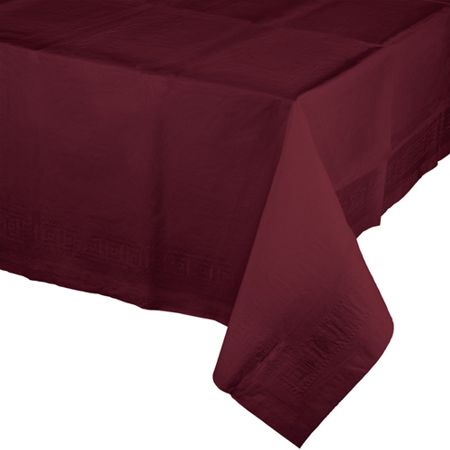 Burgundy Paper Banquet Table Covers