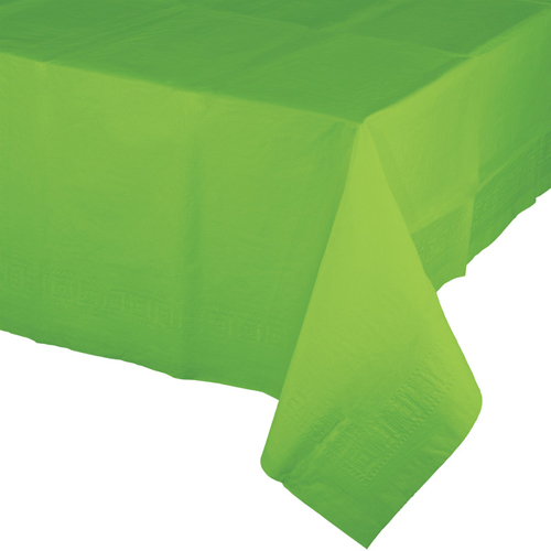 Lime Green Paper Banquet Tablecloths - 24 Count