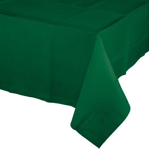 Hunter Green Paper Banquet Table Covers
