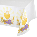 Communion Plastic Banquet Tablecloths - 54