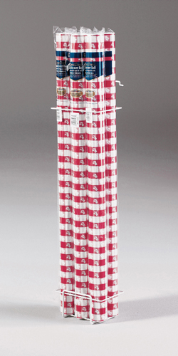 Red Gingham Plastic Table Covers - 6 Rolls