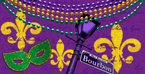 Mardi Gras Plastic Banquet Table Covers