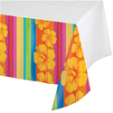 Tropical Stripes Plastic Tablecloths - 54 x 102 Inches
