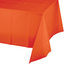 Bittersweet Orange Plastic Banquet Table Covers - 12 Count
