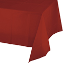 Brick Plastic Banquet Table Covers - 12 Count