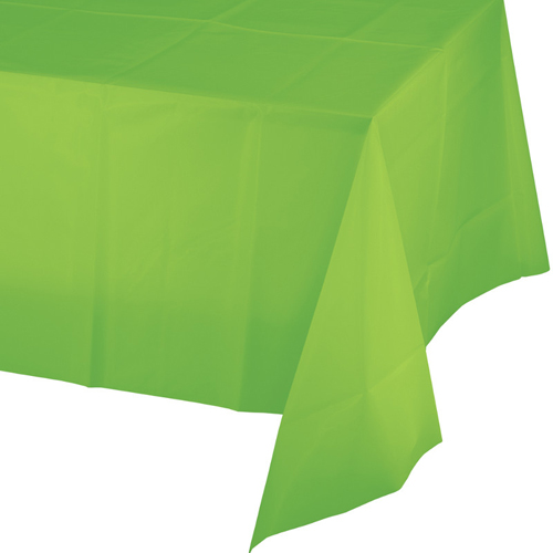 Lime Green Plastic Banquet Table Covers - 12 Count