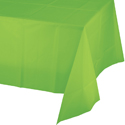 Lime Green Plastic Banquet Table Covers - 24 Count