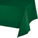 Hunter Green Plastic Banquet Table Covers - 12 Count