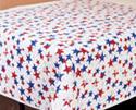 Patriotic Stars Plastic Table Cover Rolls