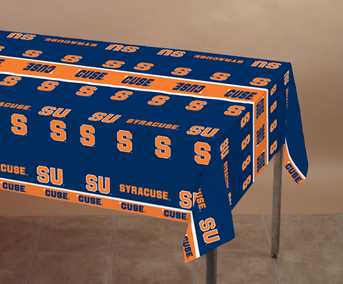 Syracuse University Plastic Banquet Tablecloths