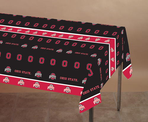 Ohio State Plastic Banquet Tablecloths