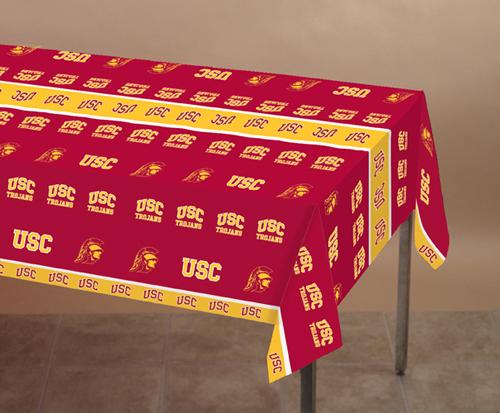 USC Trojans Plastic Banquet Table Covers