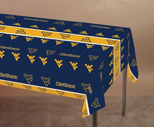 University of West Virginia Plastic Banquet Tablecloths