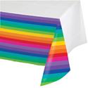 Rainbow Plastic Tablecloths – 54 x 102 Inches